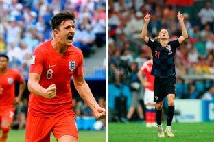 Inglaterra y Croacia buscan ser el rival de Francia