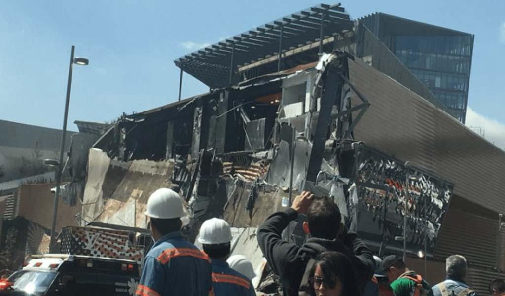 Se derrumbó un shopping en México: los videos del accidente