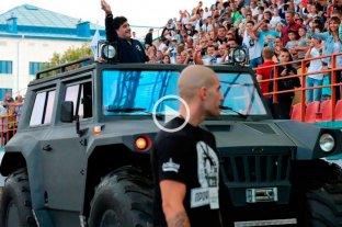Así es el Hunta, el anfibio que le regalaron a Maradona en el Dynamo Brest