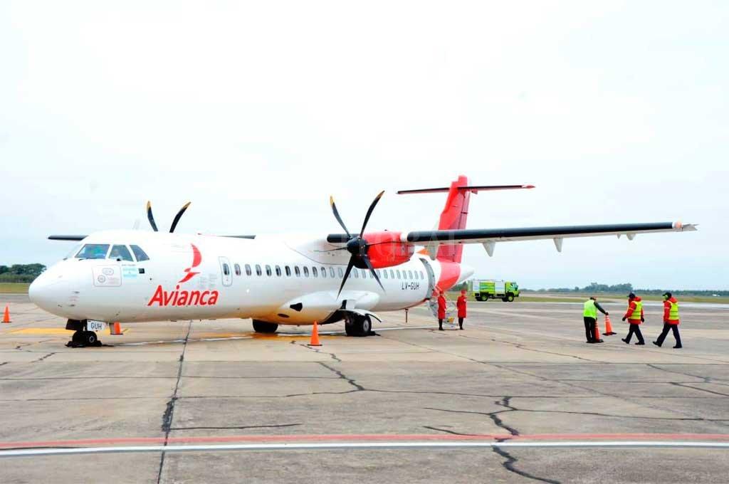 El ATR 72-600 en la pista de Reconquista Crédito: Municipalidad de Reconquista