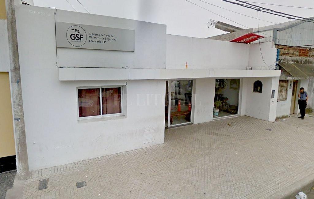 Subcomisaría 14 de Rosario. <strong>Foto:</strong> Captura digital Google Maps Street View