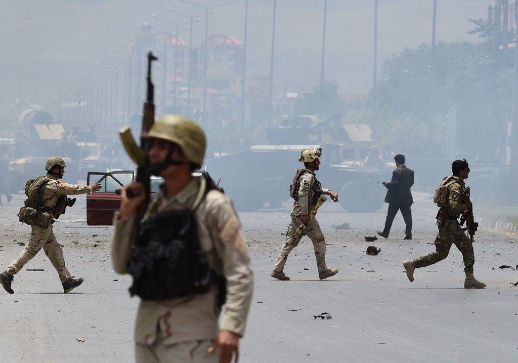 El aeropuerto de Kabul es el escenario de reiterados atentados terroristas. <strong>Foto:</strong> Internet