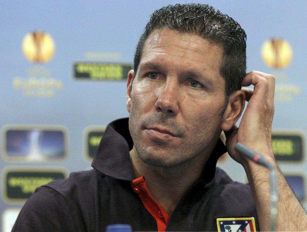 El técnico del Atlético de Madrid, Diego Simeone. <strong>Foto:</strong> dpa