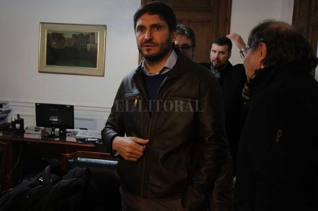 Pullaro y varios de sus colaboradores estuvo ayer en la presidencia de la Cámara de Diputados en una reunión sobre temas de su cartera <strong>Foto:</strong> Guillermo Di Salvatore