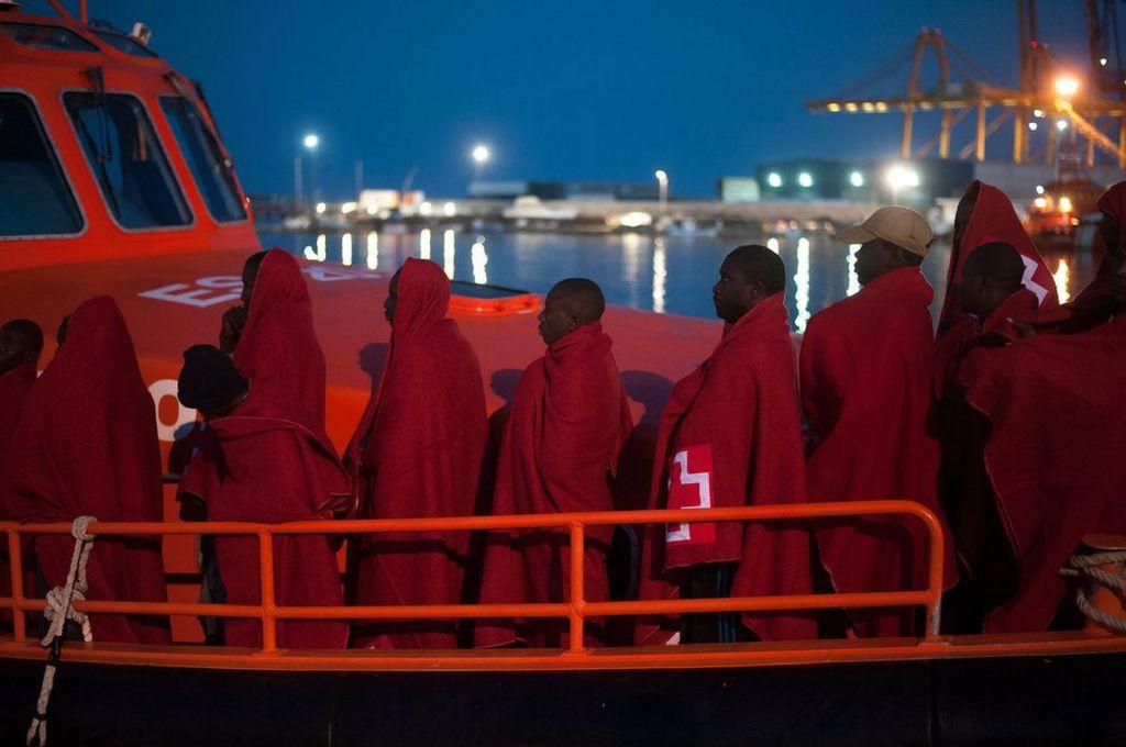Migrantes rescatados de las aguas del Mar Mediterráneo llegan al puerto de Málaga, España, el 18/07/2018.  <strong>Foto:</strong> Archivo