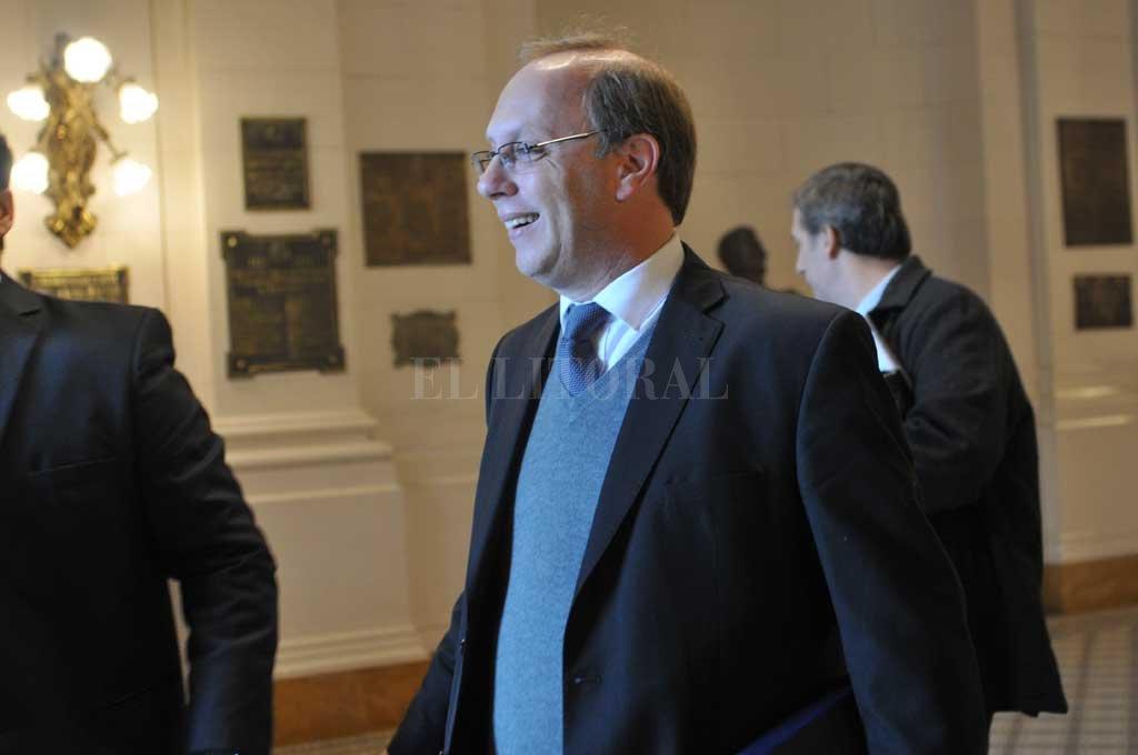 Gonzalo Saglione, ministro de Economía de Santa Fe. Crédito: Flavio Raina