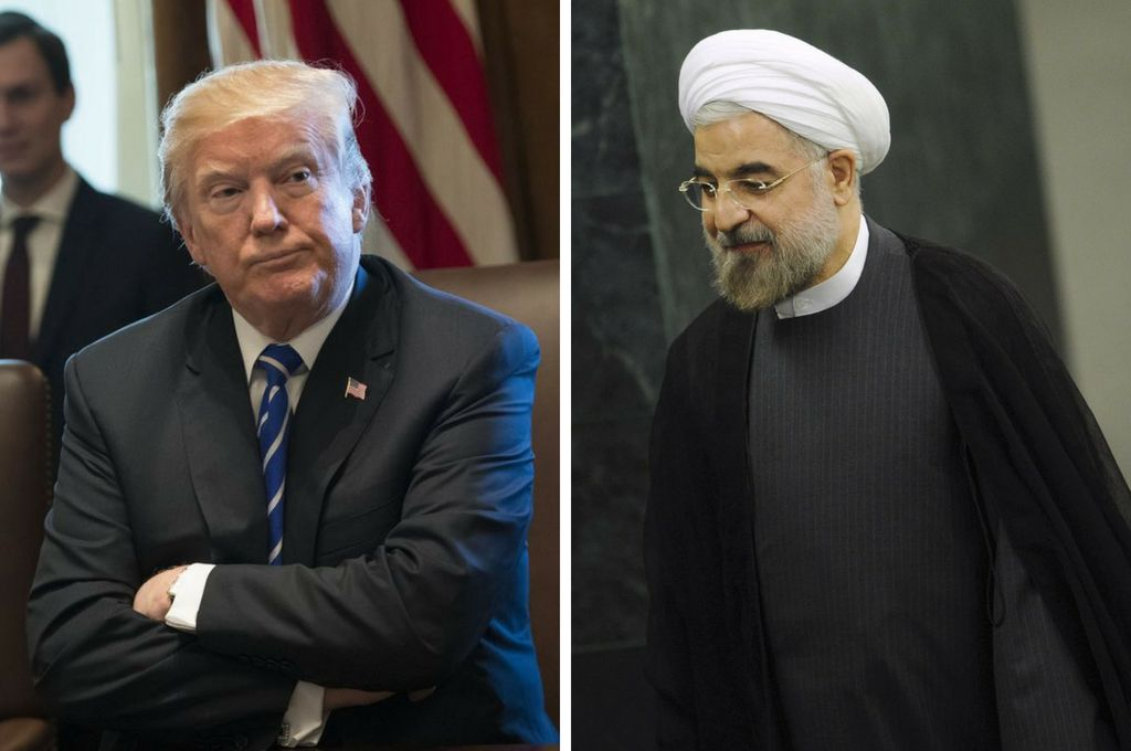 Donald Trump y Hasan Rohani. <strong>Foto:</strong> Archivo