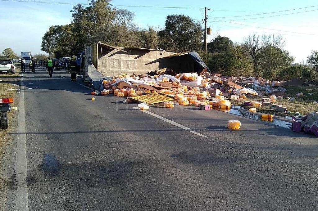 Accidente fatal en la Ruta 11 a la altura de Emilia. / Gentileza