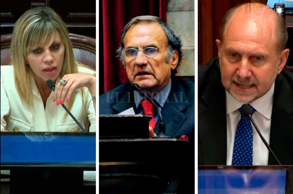 Los tres senadores santafesinos <strong>Foto:</strong> El Litoral