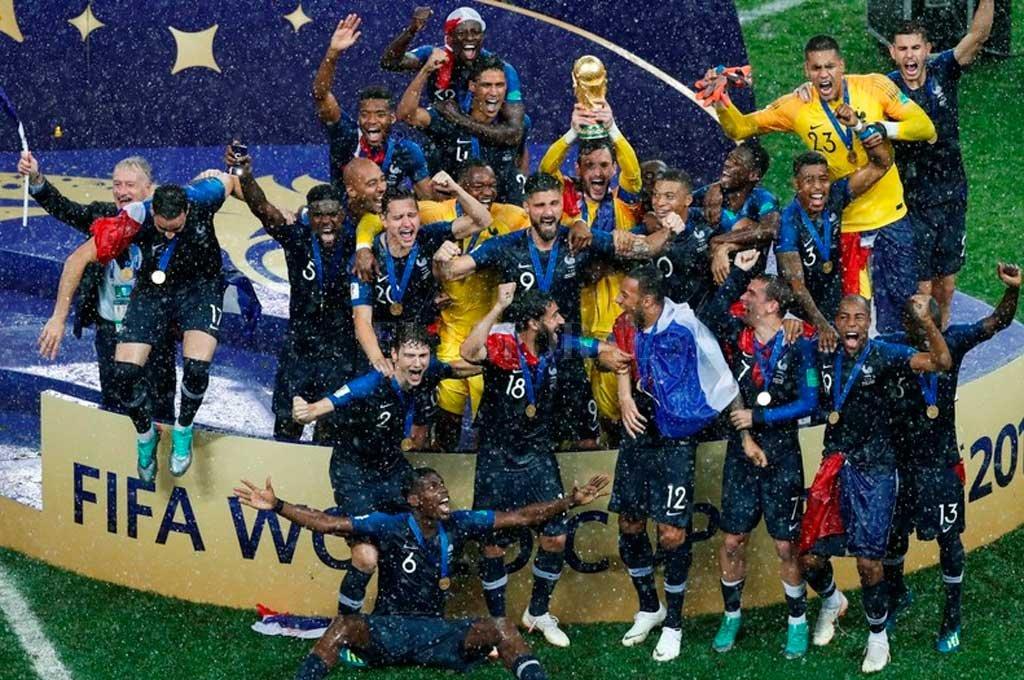 Francia, flamante campeón, lidera el listado Crédito: Archivo El Litoral