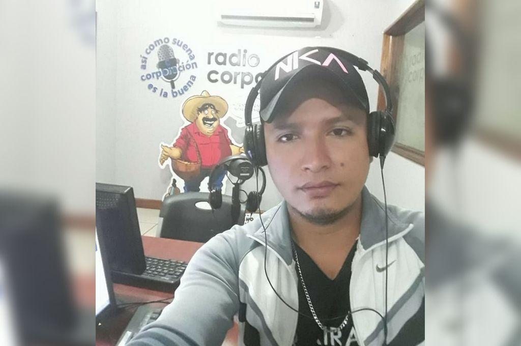 El reportero nicaragüense Yilber Idiáquez.  <strong>Foto:</strong> Internet