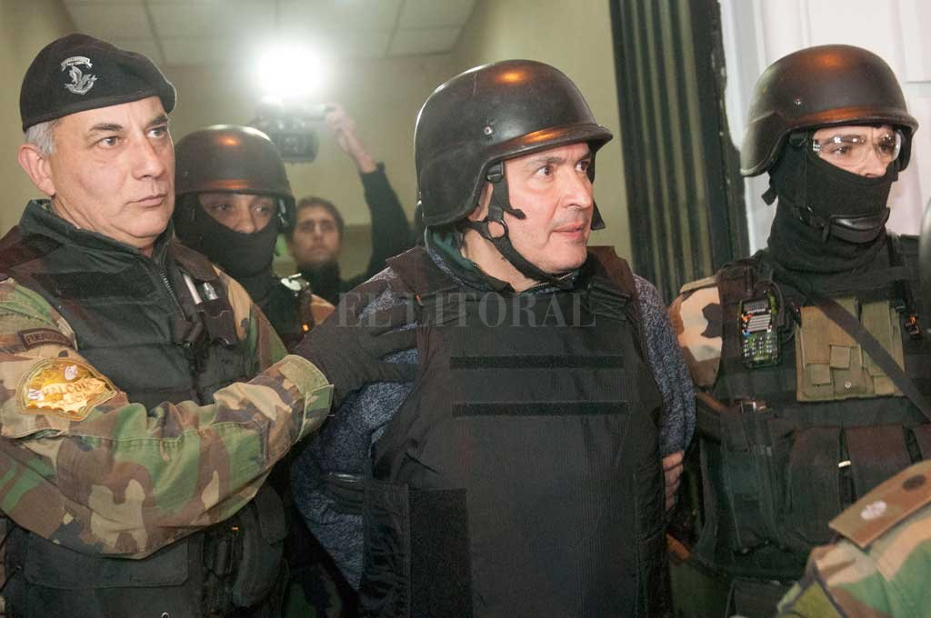 José López, quedó detenido en junio de 2016 luego de querer entregar bolsos con más de 9 millones de dólares en un convento de General Rodríguez.  Crédito: El Litoral.