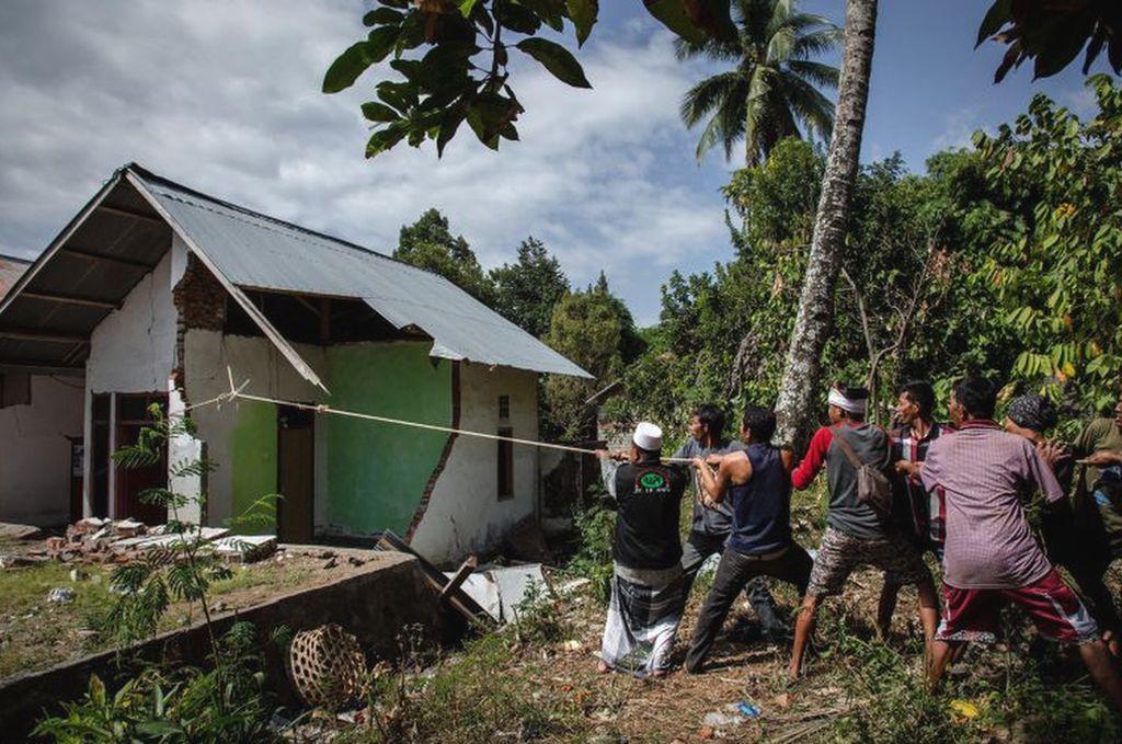 Imagen del 12 de agosto en la isla de Lombok. Crédito: Ulet Ifansasti (Getty Images)