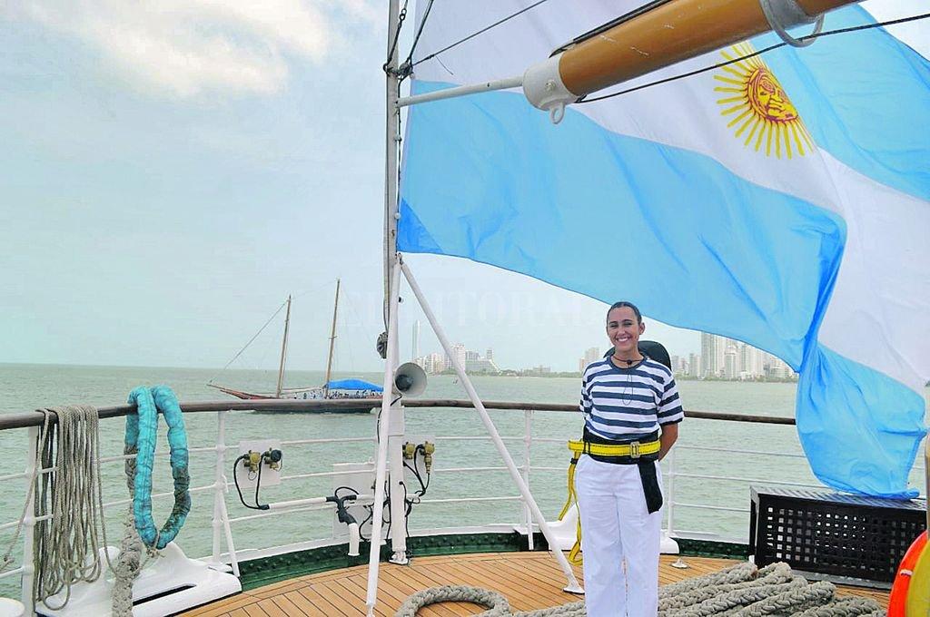 Camila Kemerer pasó por 10 puertos del continente americano. En un viaje que duró tres meses.  Crédito: Gentileza Gaceta Marinera