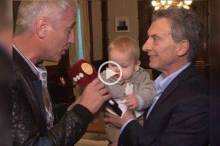 Marley y su hijo se encontraron con Macri en Casa Rosada