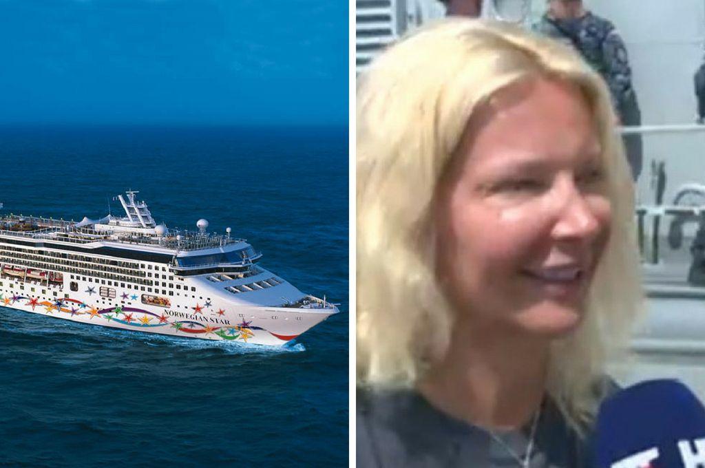 El barco y la presunta víctima. <strong>Foto:</strong> Internet