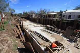 Desagüe Espora: el municipio intimó a la empresa para que continúe con los trabajos