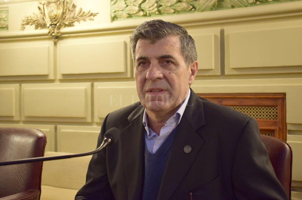 Pieroni defendió la necesidad de regular el servicio de seguridad privada. Crédito: El Litoral