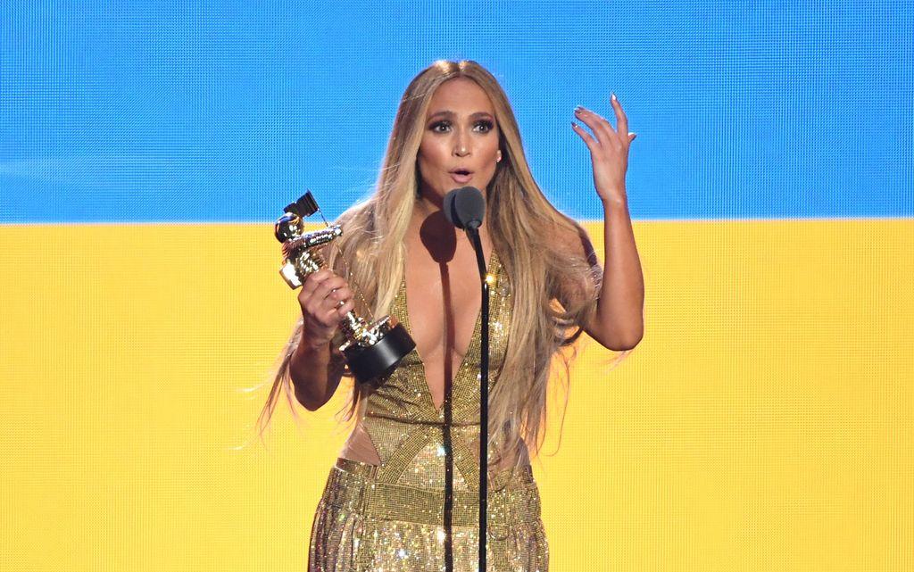 Jennifer Lopez recibió el premio Video Vanguardia por su trayectoria de más de 20 años. <strong>Foto:</strong> dpa