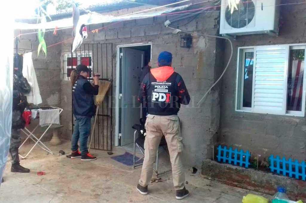 La Justicia allanó su casa de Alto Verde en abril de 2017, cuatro meses después de la caída del jefe narco. Crédito: Archivo El Litoral