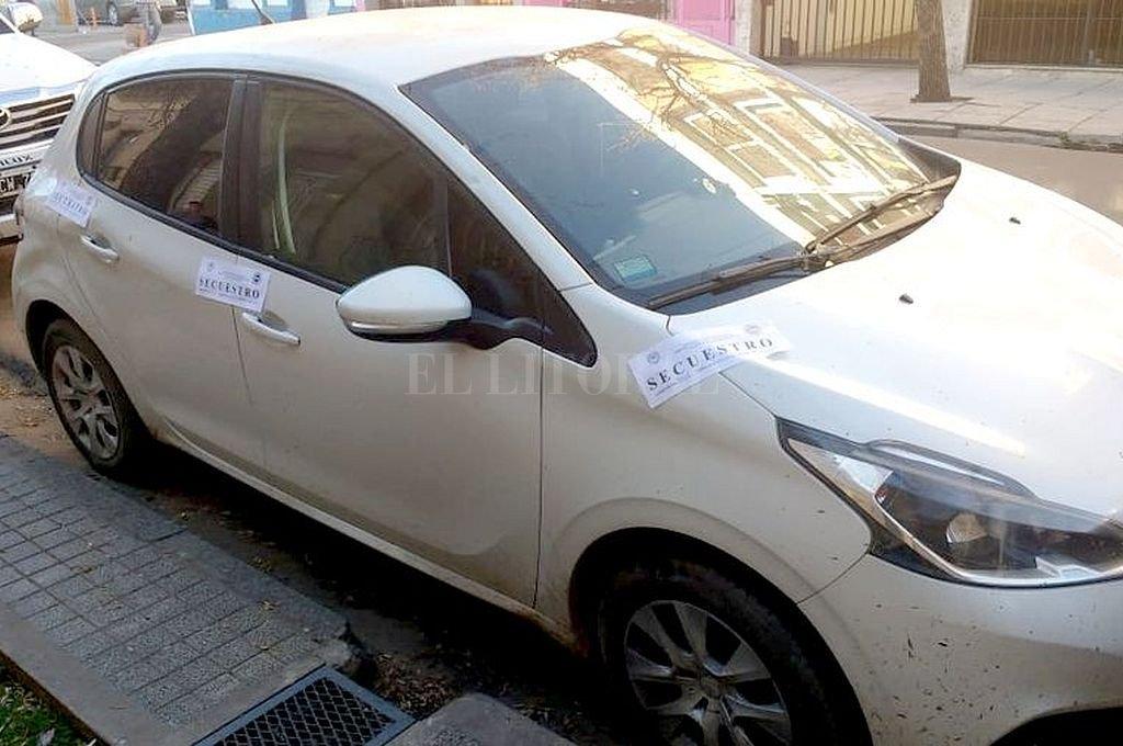 Uno de los autos secuestrados el viernes. Crédito: El Litoral