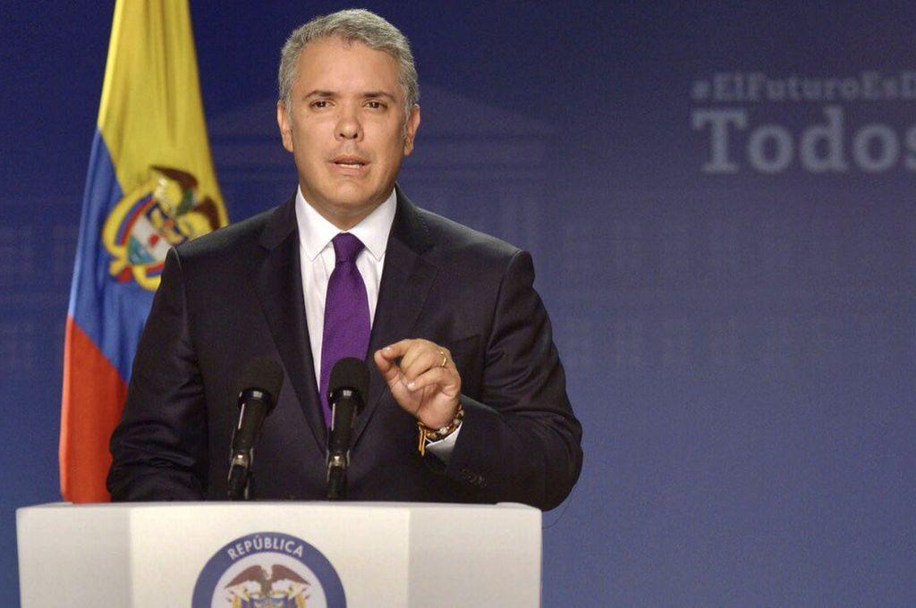 El presidente colombiano, Iván Duque, felicitó a quienes salieron a votar y, aunque lamentó el resultado, dijo que