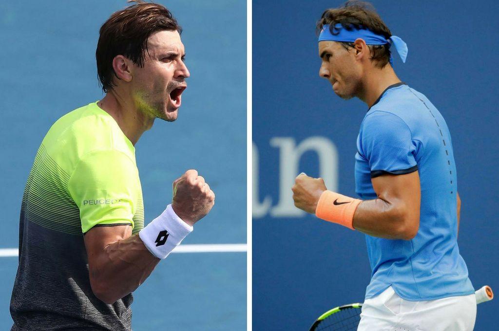 Duelo de españoles. Cierran la primer jornada del US Open los españoles David Ferrer y Rafael Nadal. Crédito: Archivo
