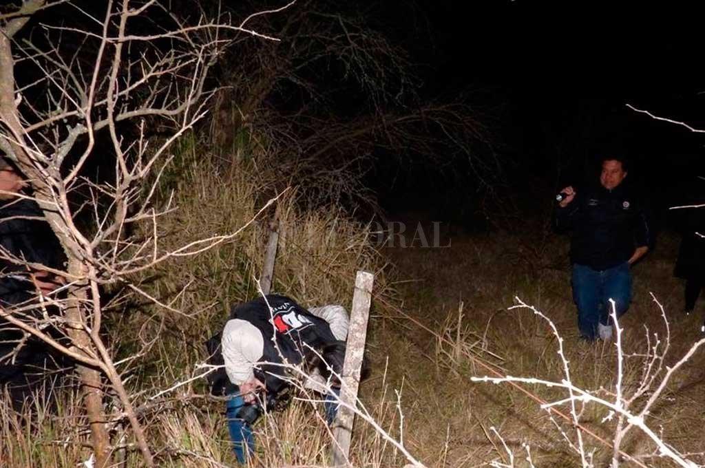 Personal de la PDI trabajó en los rastrillajes que se realizaron en la zona donde encontraron los restos óseos Crédito: Gentileza