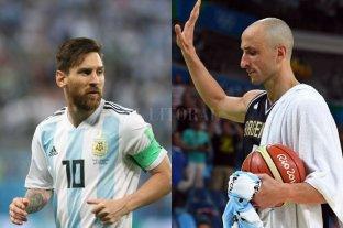 """Messi a Ginóbili: """"No va a ser lo mismo sin vos en la cancha"""""""