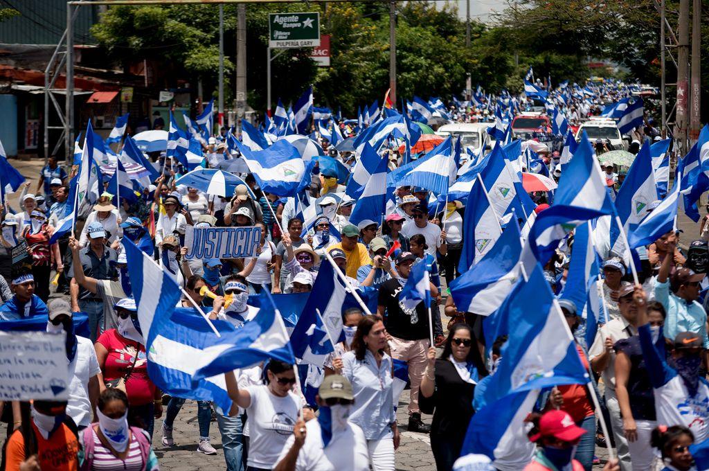 Protestas en Nicaragua contra Ortega. <strong>Foto:</strong> Archivo