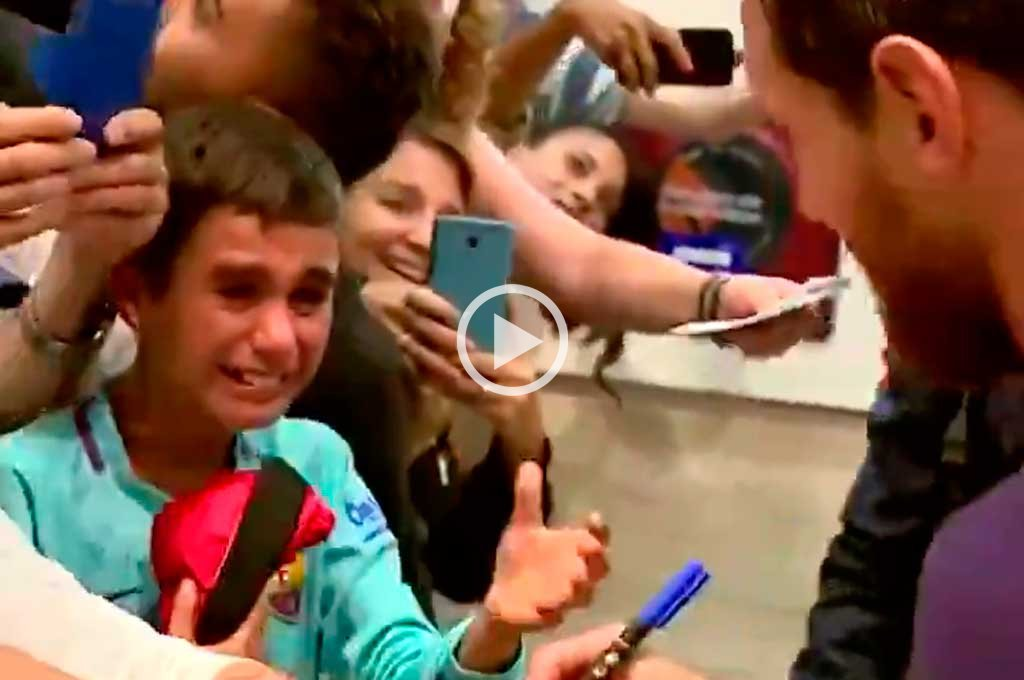 """Video: una rosarina le gritó """"pecho frío"""" a Messi"""