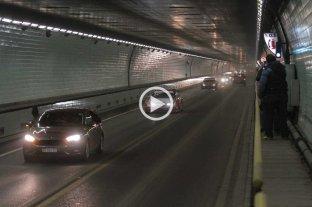 Los autos del Súper TC2000 cruzaron por el Túnel Subfluvial