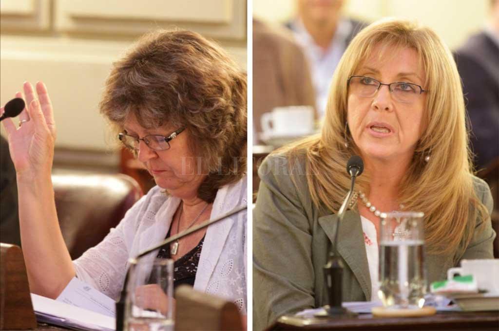 Estela Yacuzzi y Claudia Giaccone. Preocupación por gasoductos. <strong>Foto:</strong> Archivo El Litoral