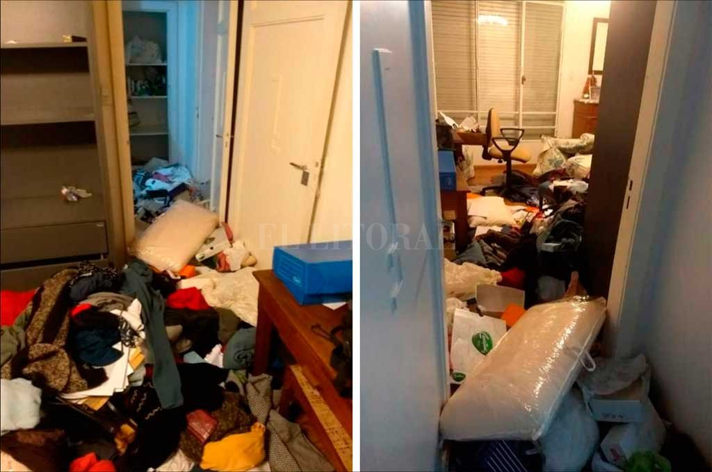 El triste panorama con el que se encontraron los dueño de casa. Todo revuelto y