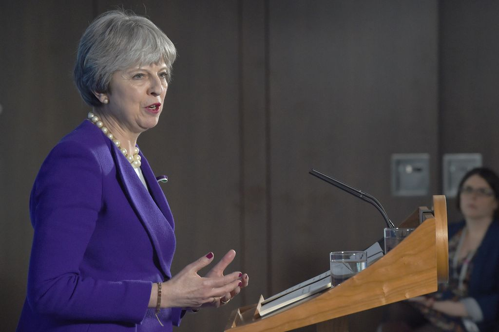 Theresa May, primer ministro británica. <strong>Foto:</strong> Archivo