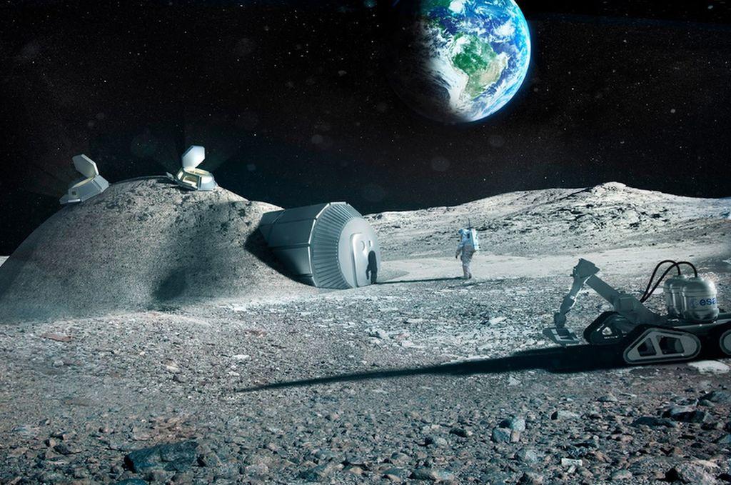 Base lunar, imagen ilustrativa. Crédito: Daniel Marín - Naukas