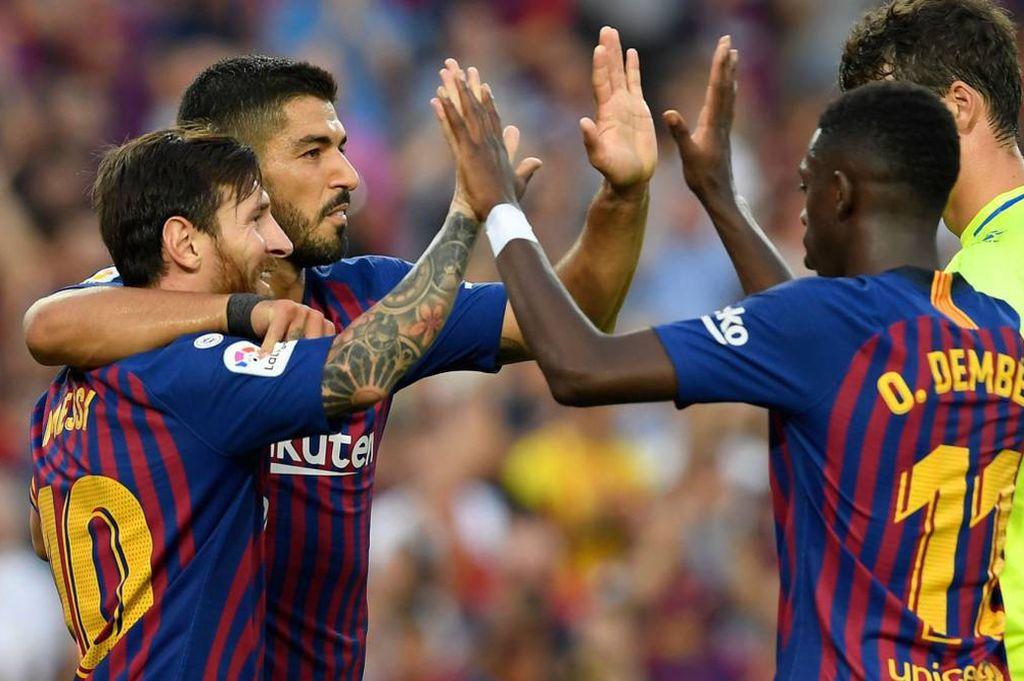 Messi dirigió al Barcelona hacia una goleada 8-2 ante el Huesca.  <strong>Foto:</strong> Internet