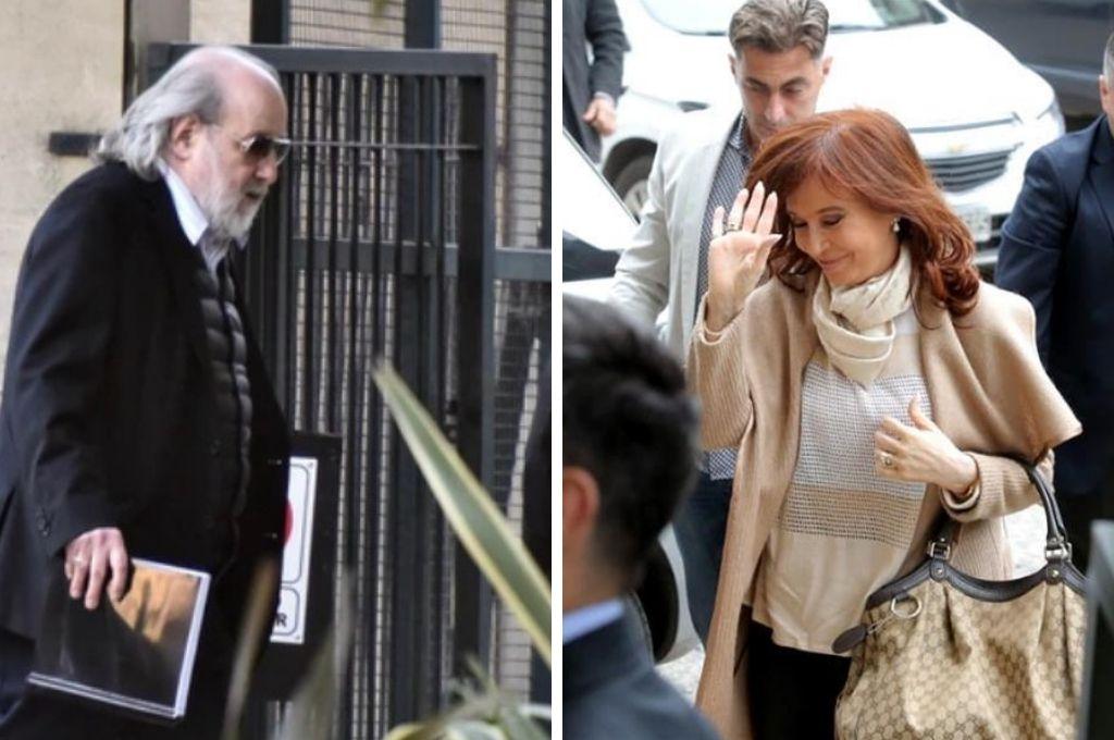 El juez Claudio Bonadío y Cristina Kirchner. Crédito: La Nación.