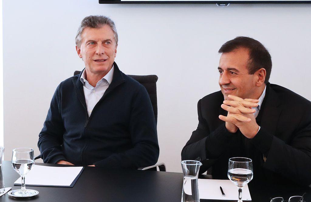 Mauricio Macri y Mario Quintana. <strong>Foto:</strong> Internet