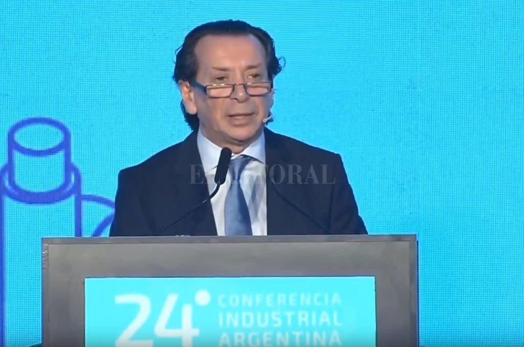 El ministro de Producción, Dante Sica, en la 24° Conferencia Industrial de la UIA. <strong>Foto:</strong> Captura de pantalla.