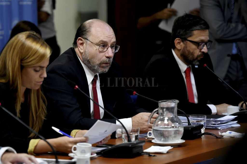 Miguel Piedecasas (centro), presidente del Consejo de la Magistratura. Crédito: Archivo El Litoral