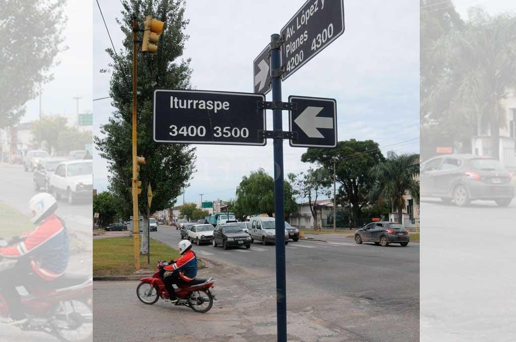 La zona de Av. López y Planes e Iturraspe Crédito: Archivo El Litoral