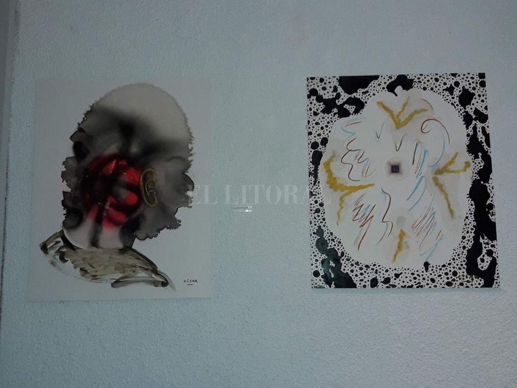 Obras de César Constanzo, en exposición en la Alianza Francesa. Crédito: Gentileza Alianza Francesa de Santa Fe