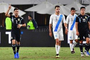 Amistoso Internacional: Argentina venció a Guatemala