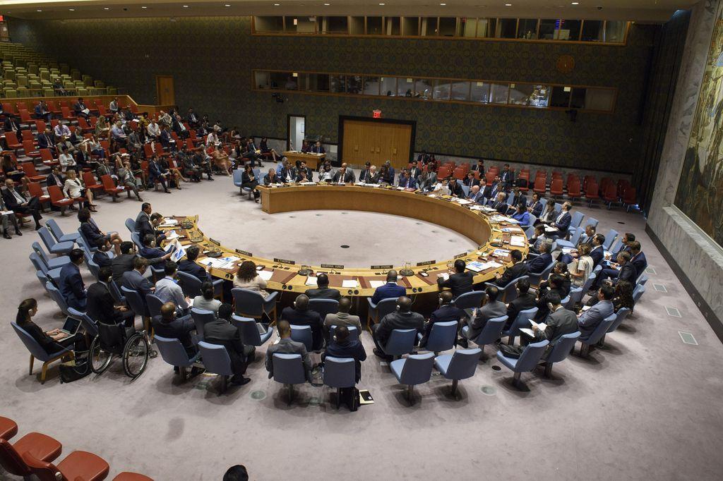 05/09/2018, EEUU, Nueva York:Vista de la sesión del Consejo de Seguridad de Naciones Unidas durante el tratamiento de la crisis en Nicaragua. <strong>Foto:</strong> dpa