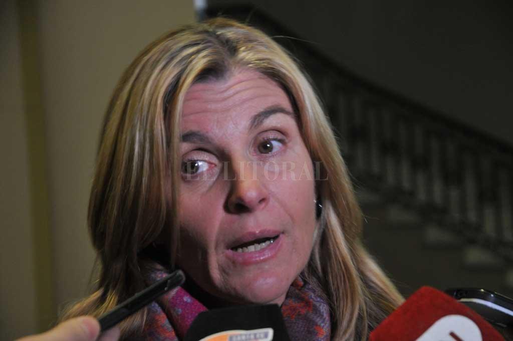 Ana Laura Gioria, del Ministerio Público de la Acusación, investiga la muerte de Vázquez Crédito: Mauricio Garín