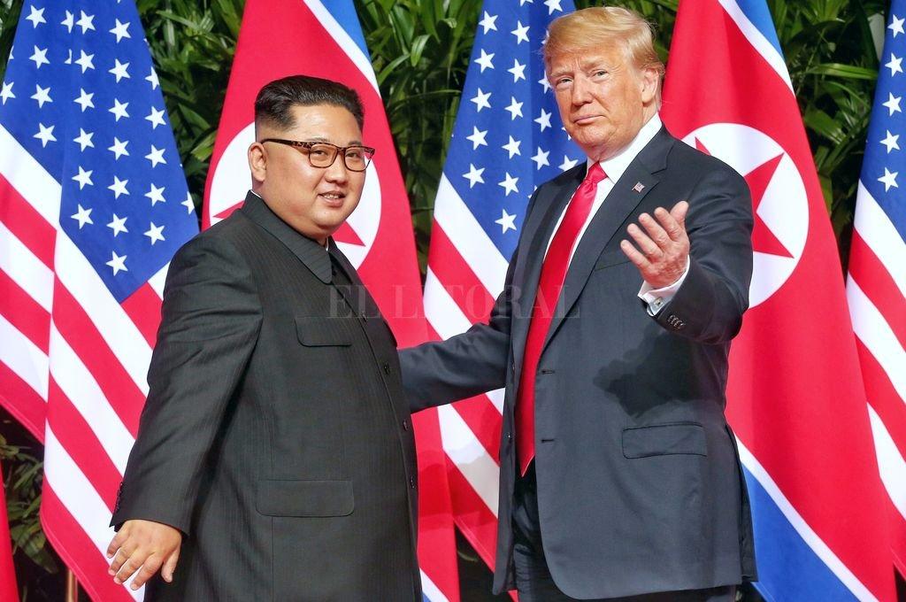 El 12 de junio pasado, Kim y Trump celebraron por primera vez una reunión histórica en Singapur. <strong>Foto:</strong> Archivo