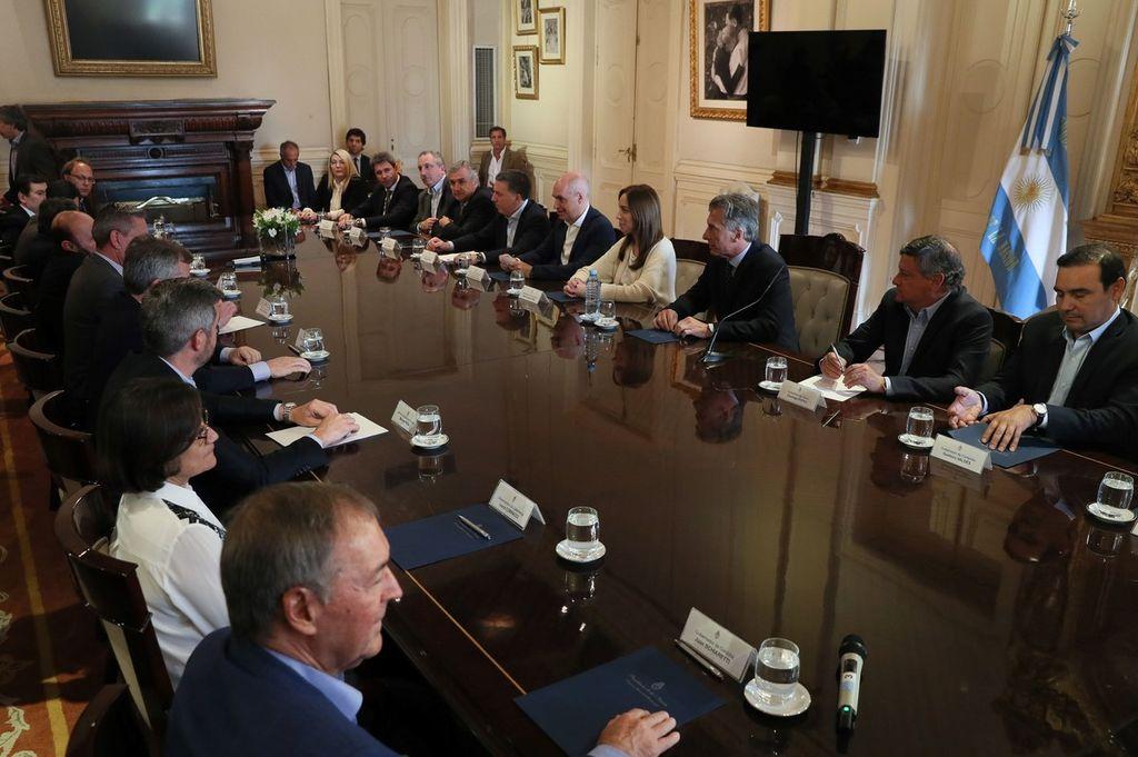 El encuentro permitió que se avance en un consenso general aunque se aguardaban los detalles que dará a conocer el Gobierno. Crédito: Presidencia de la Nación