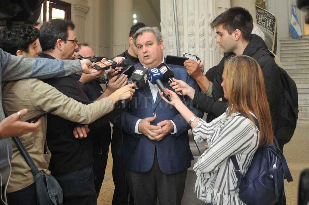 """""""Planteamos que el Presupuesto 2018 contenga una previsión sobre la deuda nacional con Santa Fe"""", dijo Pablo Farías, ministro de Gobierno y Reforma del Estado de Santa Fe Crédito: Flavio Raina"""