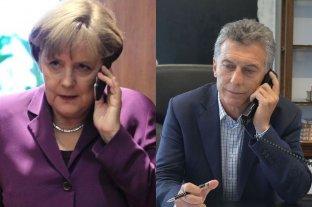 Merkel llamó a Macri para darle su respaldo ante la crisis económica